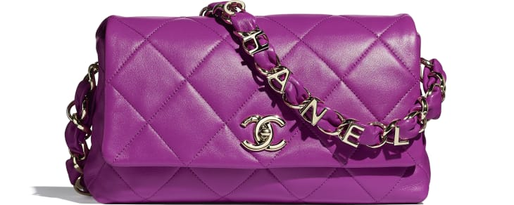 image 1 - Flap Bag - Lambskin - Purple