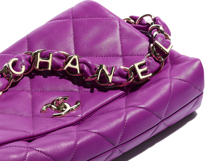 image 4 - Flap Bag - Lambskin - Purple
