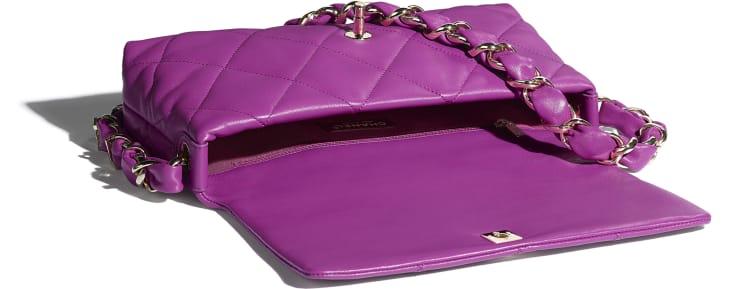 image 3 - Flap Bag - Lambskin - Purple