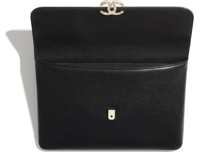 image 3 - Flap Case - Grained Calfskin & Gold-Tone Metal - Black