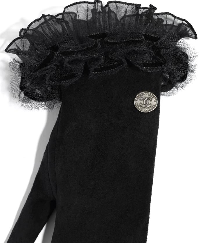 image 2 - Gloves - Lambskin & Silk - Black