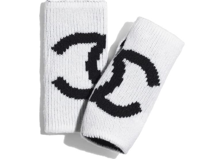 image 1 - Gloves - Cashmere - White & Black