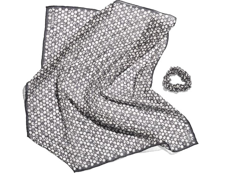 image 3 - 헤어 액세서리 - 코튼 - 블랙, 에크루