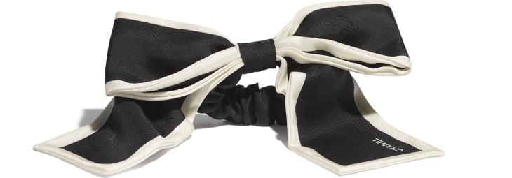 image 2 - Hair accessory - Silk Twill - Black & Ivory