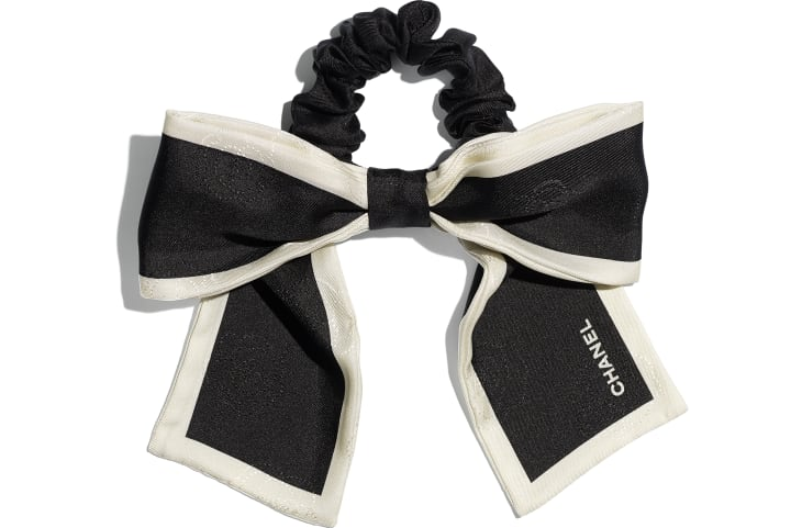 image 1 - Hair accessory - Silk Twill - Black & Ivory