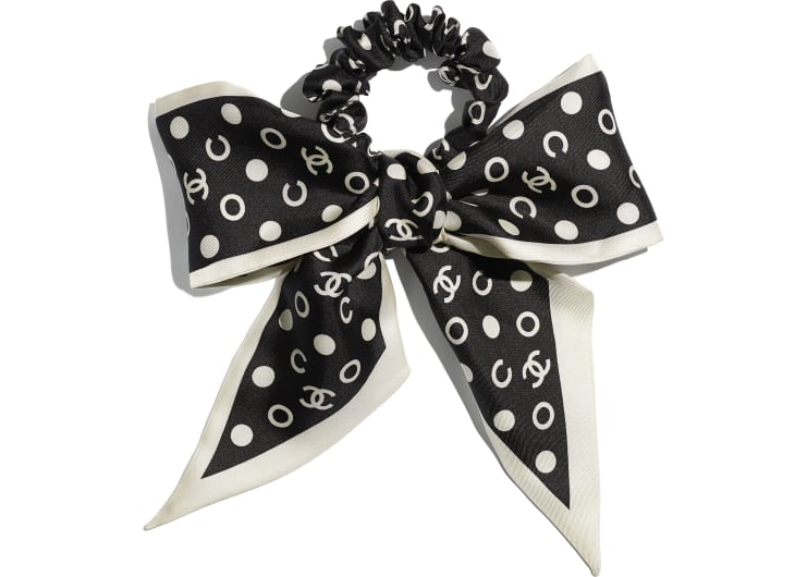 image 1 - Hair accessory - Silk Twill - Black & Ivory