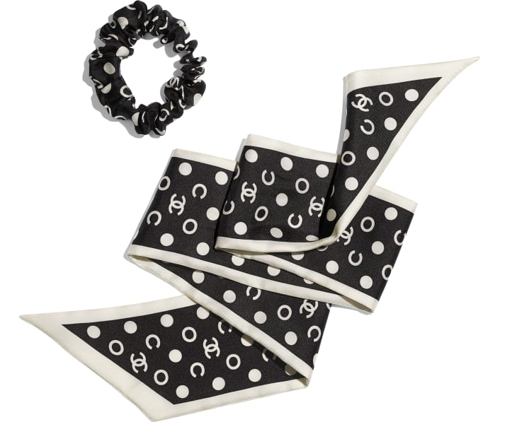 image 3 - Hair accessory - Silk Twill - Black & Ivory