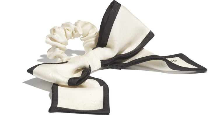 image 2 - Hair accessory - Silk Twill - Ivory & Black