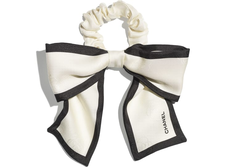 image 1 - Hair accessory - Silk Twill - Ivory & Black