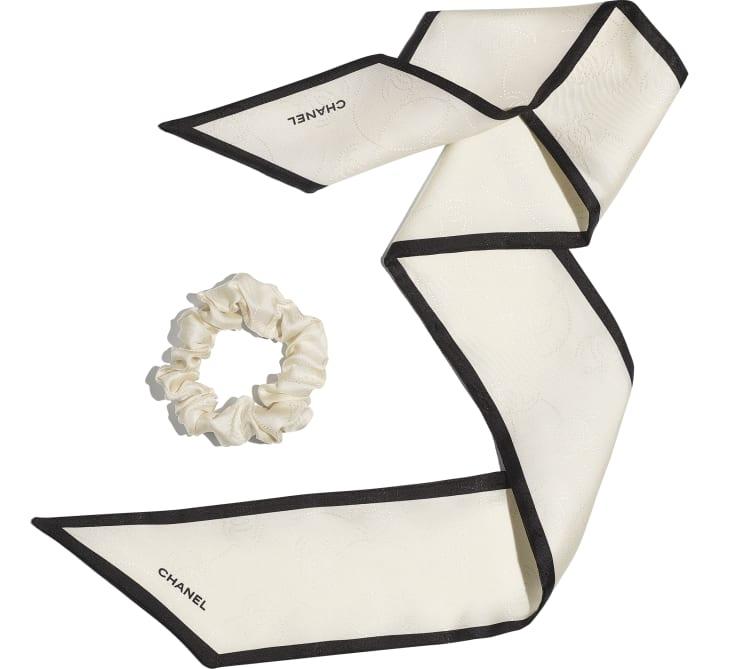 image 3 - Hair accessory - Silk Twill - Ivory & Black