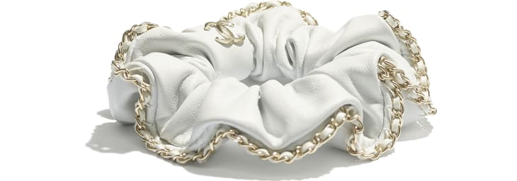 image 2 - Hair accessory - Lambskin & Gold Metal  - White
