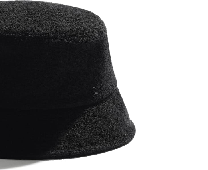 image 2 - Hat - Cotton Terrycloth - Black