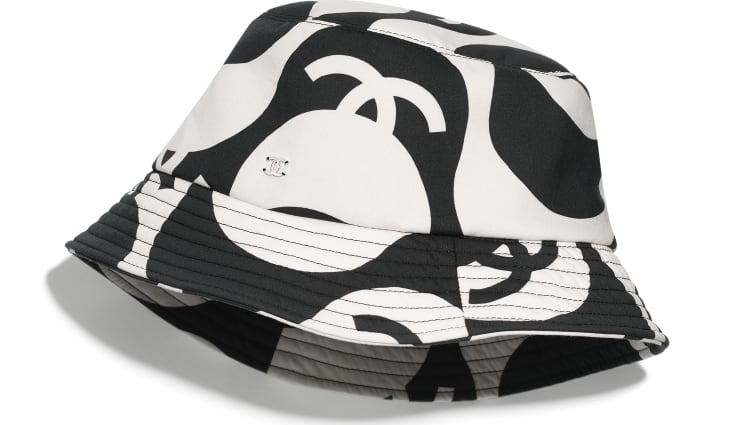 image 1 - Hat - Cotton - Black & Ecru