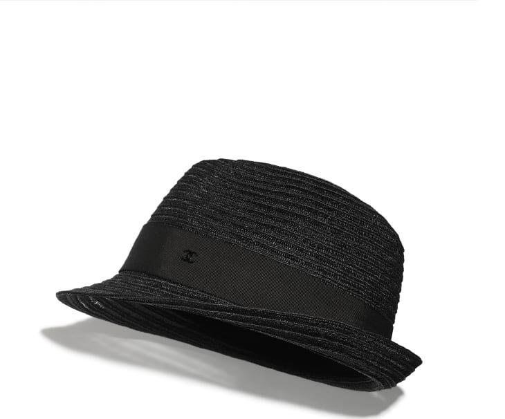 image 1 - Chapeau - Paille & gros-grain - Noir