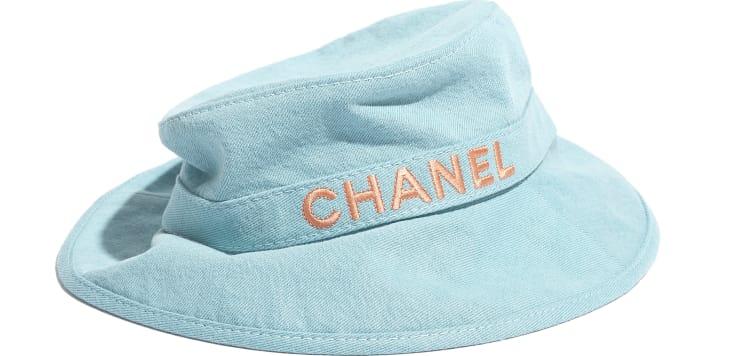 image 2 - Hat - Cotton - Blue & Orange