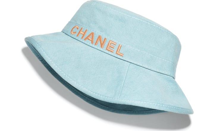 image 1 - Hat - Cotton - Blue & Orange