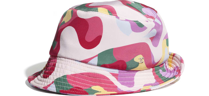 image 2 - Hat - Cotton - Pink, Green, Yellow & Purple