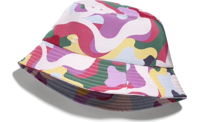 image 1 - Hat - Cotton - Pink, Green, Yellow & Purple