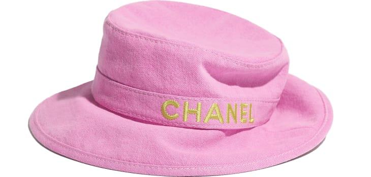 image 2 - Hat - Cotton - Pink & Yellow