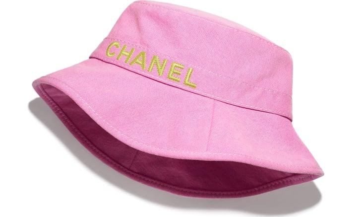 image 1 - Hat - Cotton - Pink & Yellow