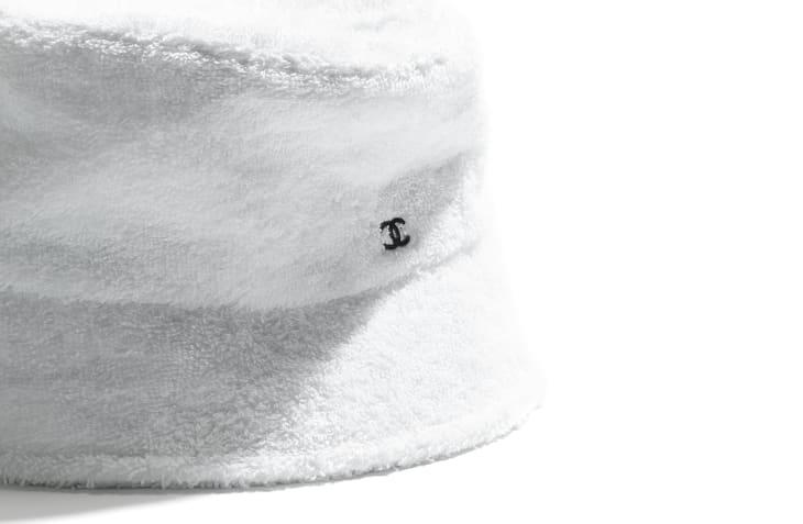 image 2 - Hat - Cotton Terrycloth - White