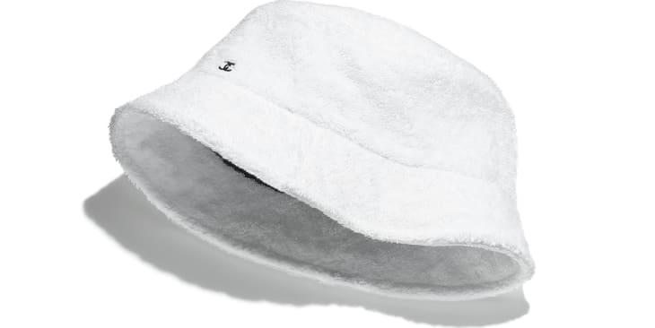 image 1 - Hat - Cotton Terrycloth - White
