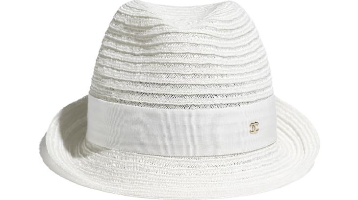image 2 - Chapeau - Paille & gros-grain - Blanc
