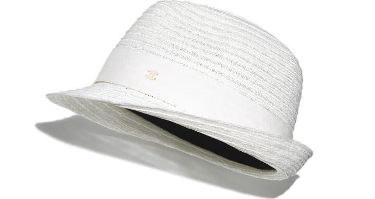 image 1 - Chapeau - Paille & gros-grain - Blanc