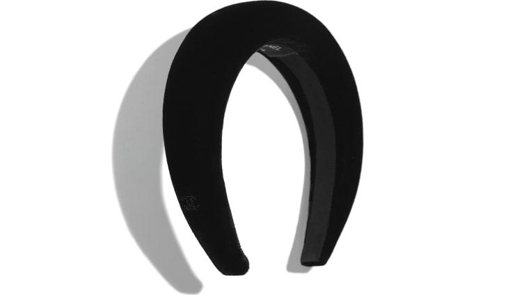 image 1 - ヘアバンド - ベルベット - ブラック