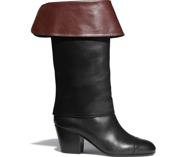 image 1 - Bottes - Veau - Noir & marron