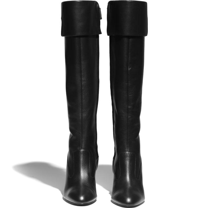 image 2 - ロング ブーツ - ラムスキン - ブラック