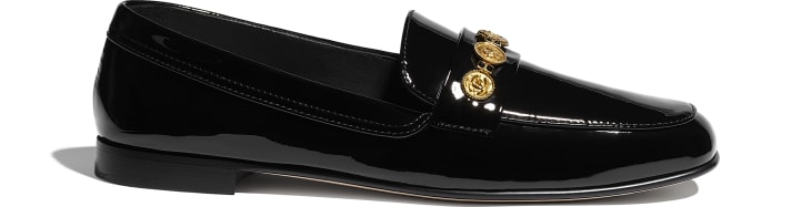 image 1 - Loafers - Patent Calfskin - Black