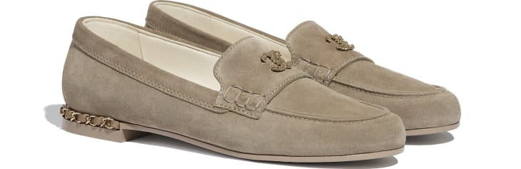 image 2 - Loafers - Suede Calfskin - Dark Beige