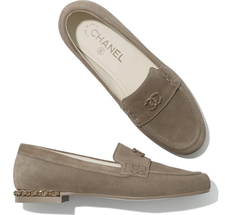image 4 - Loafers - Suede Calfskin - Dark Beige