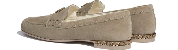 image 3 - Loafers - Suede Calfskin - Dark Beige