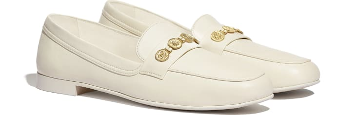 image 2 - Loafers - Lambskin - Ivory