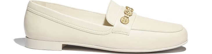 image 1 - Loafers - Lambskin - Ivory