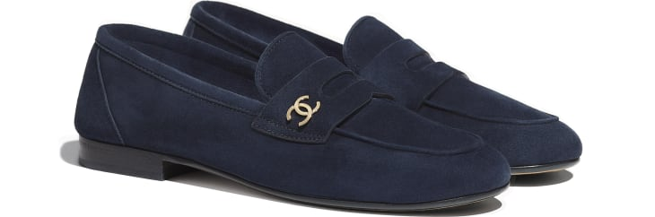 image 2 - Loafers - Suede Calfskin - Navy Blue
