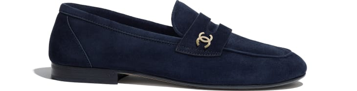 image 1 - Loafers - Suede Calfskin - Navy Blue