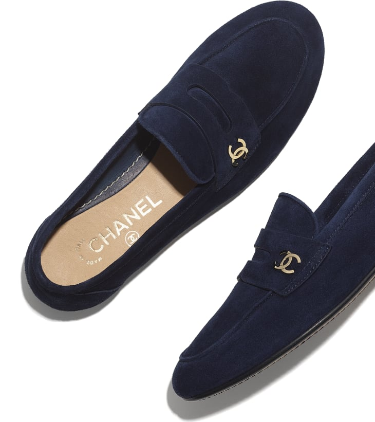 image 4 - Loafers - Suede Calfskin - Navy Blue