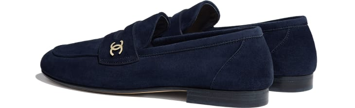image 3 - Loafers - Suede Calfskin - Navy Blue