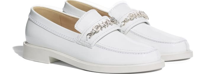 image 2 - Loafers - Patent Calfskin - White