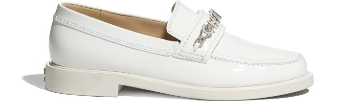 image 1 - Loafers - Patent Calfskin - White