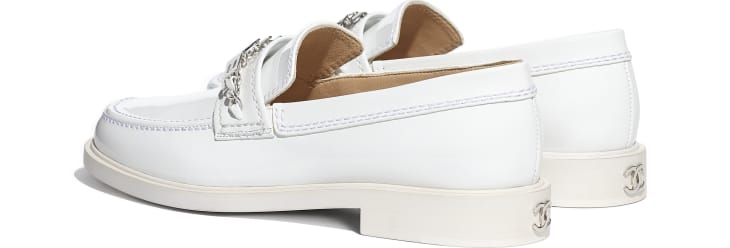 image 3 - Loafers - Patent Calfskin - White
