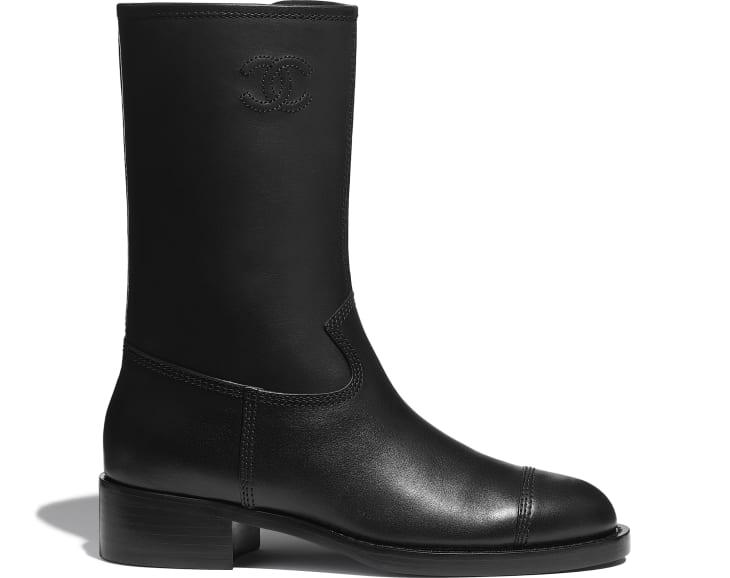 image 1 - Mid-Calf Boots - Calfskin - Black