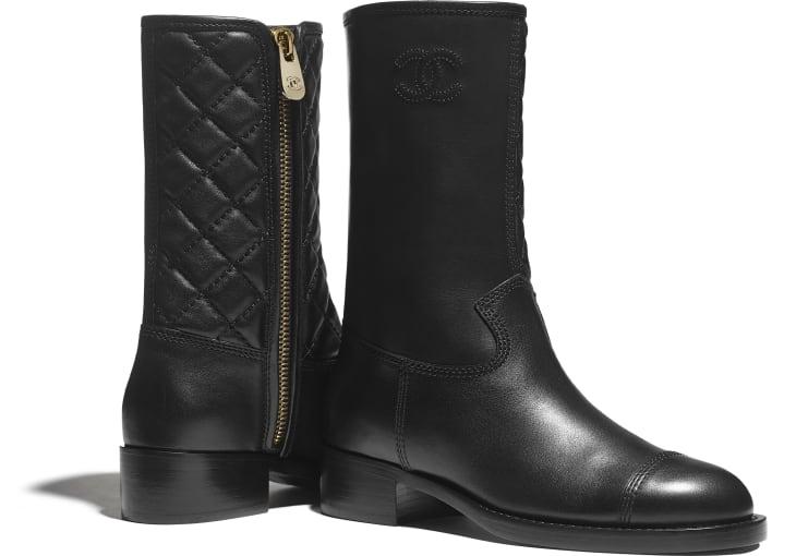 image 4 - Mid-Calf Boots - Calfskin - Black