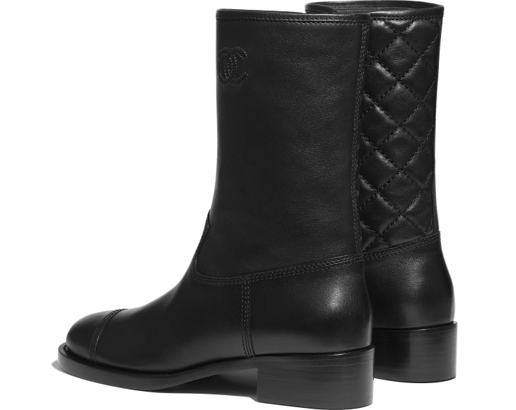 image 3 - Mid-Calf Boots - Calfskin - Black
