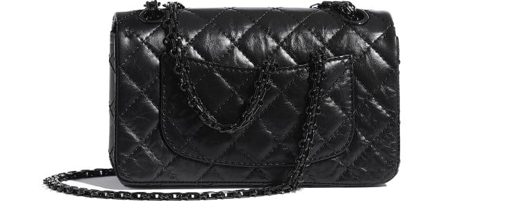 image 2 - Mini sac 2.55 - Veau vieilli & métal noir - Noir