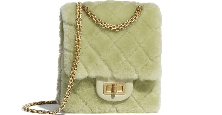 image 1 - Bolsa Mini 2.55 - Couro de Cordeiro, Couro de Novilho Envelhecido & Metal Dourado - Verde