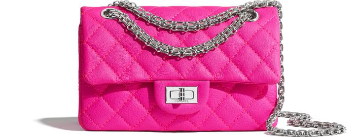 image 1 - Mini 2.55 Handbag - Goatskin & Silver-Tone Metal - Pink